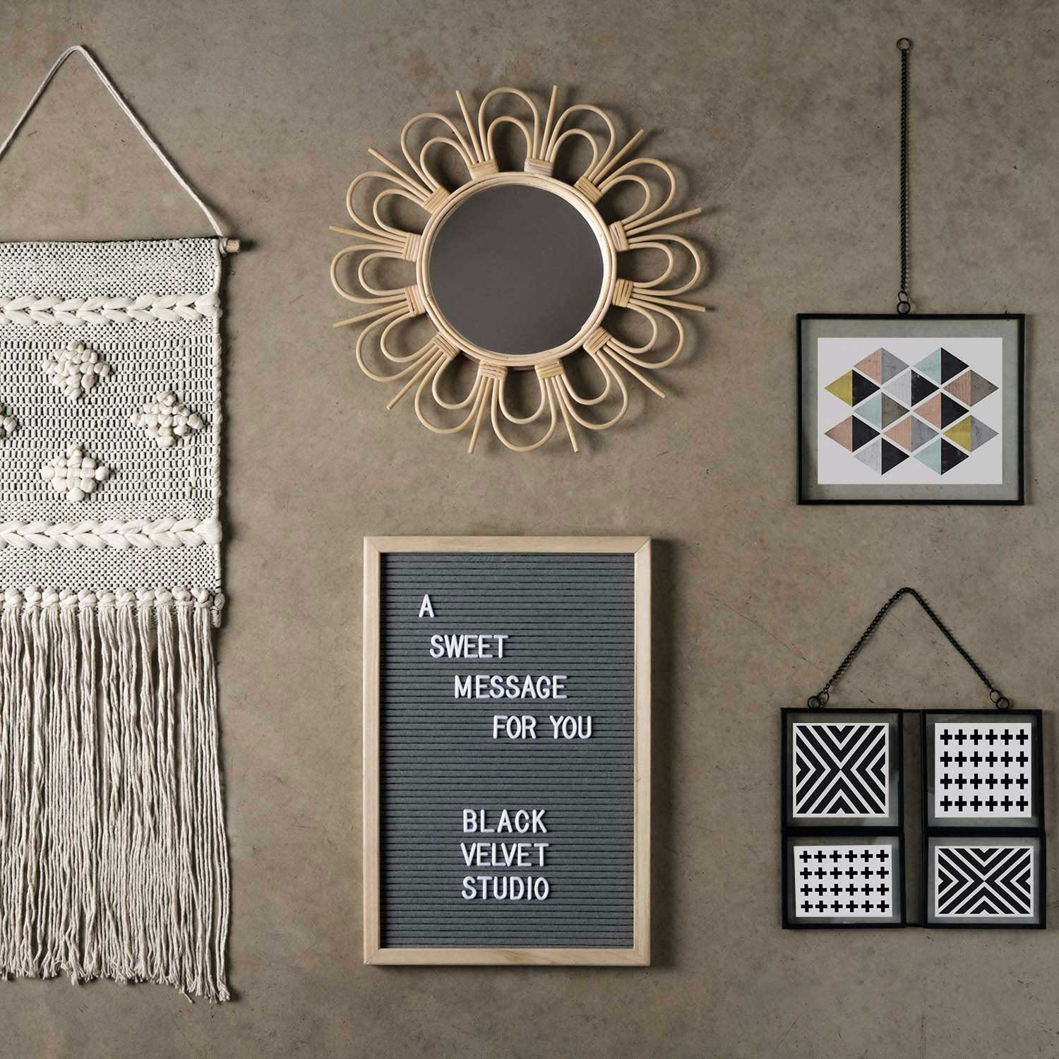 Letter board Word , color Natural and Gray