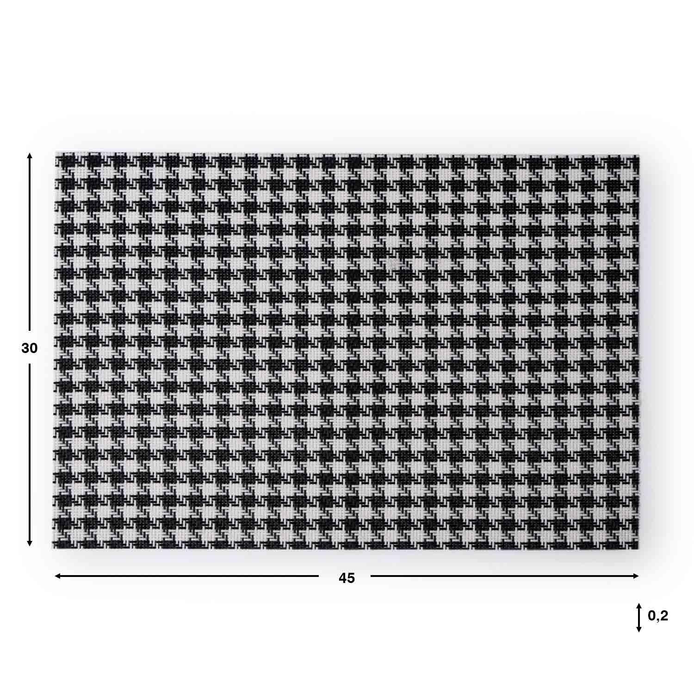 2 Placemats Set Patagallo, PVC, black and white color, hola30x45 cm