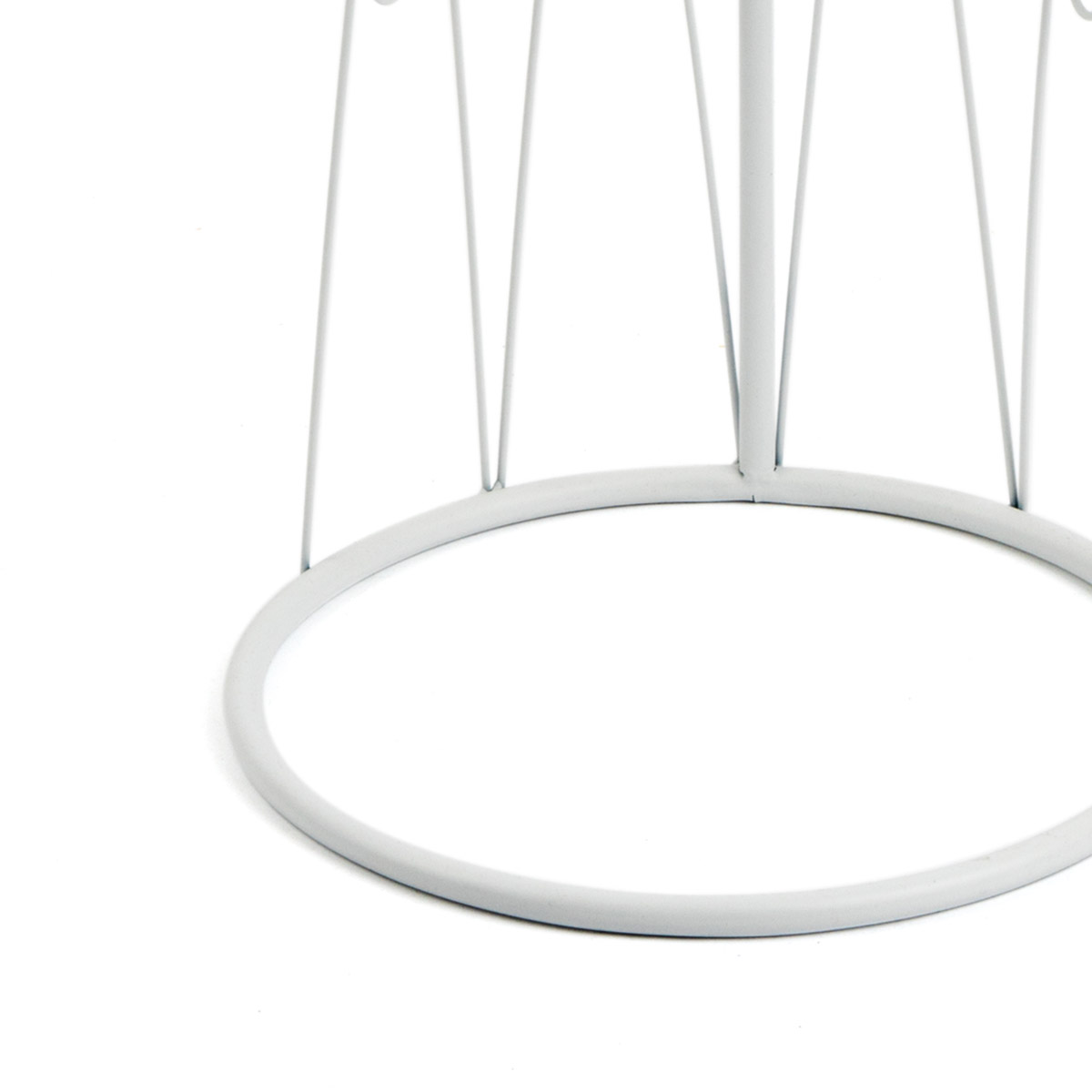 esa auxiliar Metal Auxiliares Color Blanca Redonda - Diseño Estilo Nórdico Vintage - Dormitorio Saló