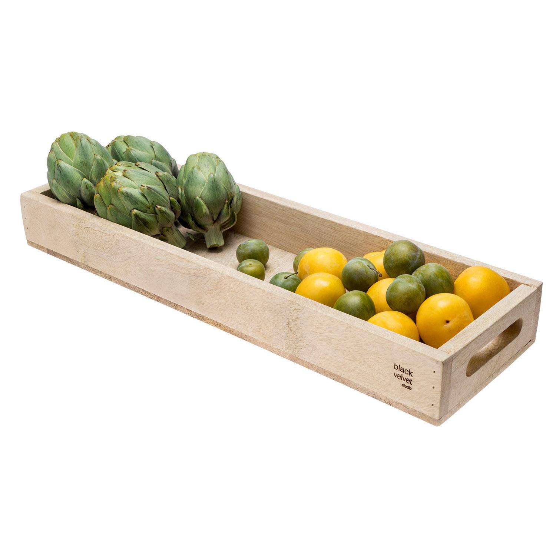 andeja Madera Servir Mango Color Natural Rectangular - Estilo Nórdico con sin Estampado - Retro Vint