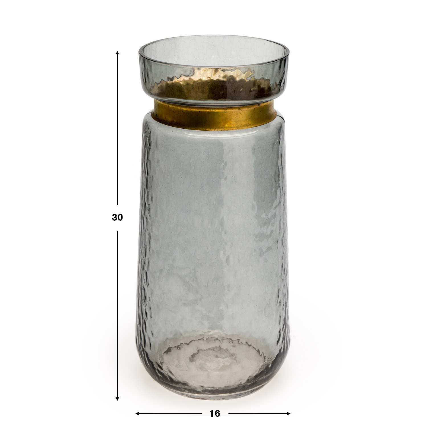 rass Decorative Glass Vase Glass Brown - Modern Vintage Vase for Home Office Room Small Mesa Etching