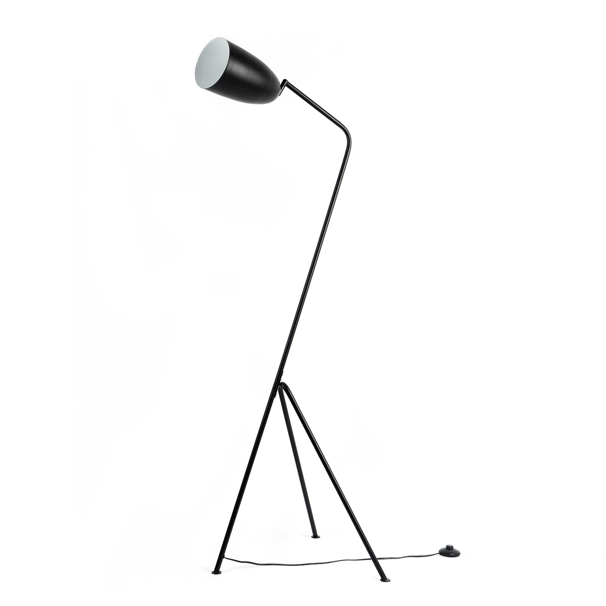 Floor lamp Mr Smith metal, color black, retro air, 150x32x32 cm