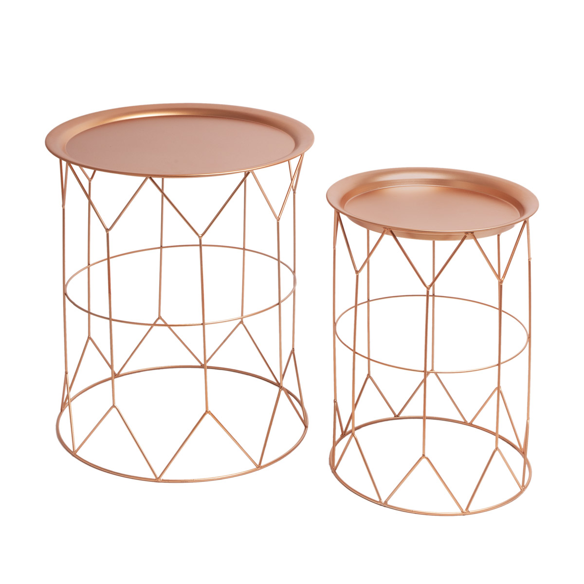 eptember 2 side table Metal Table Set Auxiliary Color Round Copper - Nordic Vintage Style Design - B