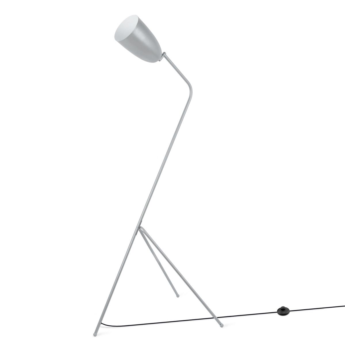 Floor lamp Mr Smith, metal, color Gray, 150x32x32 cm