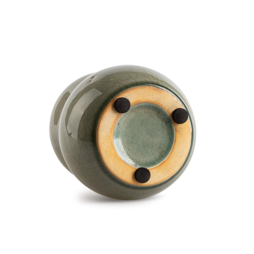 arrón Botijo Cerámica Decorativo Color Gris Terracota – Florero Moderno Vintage para Hogar Oficina S
