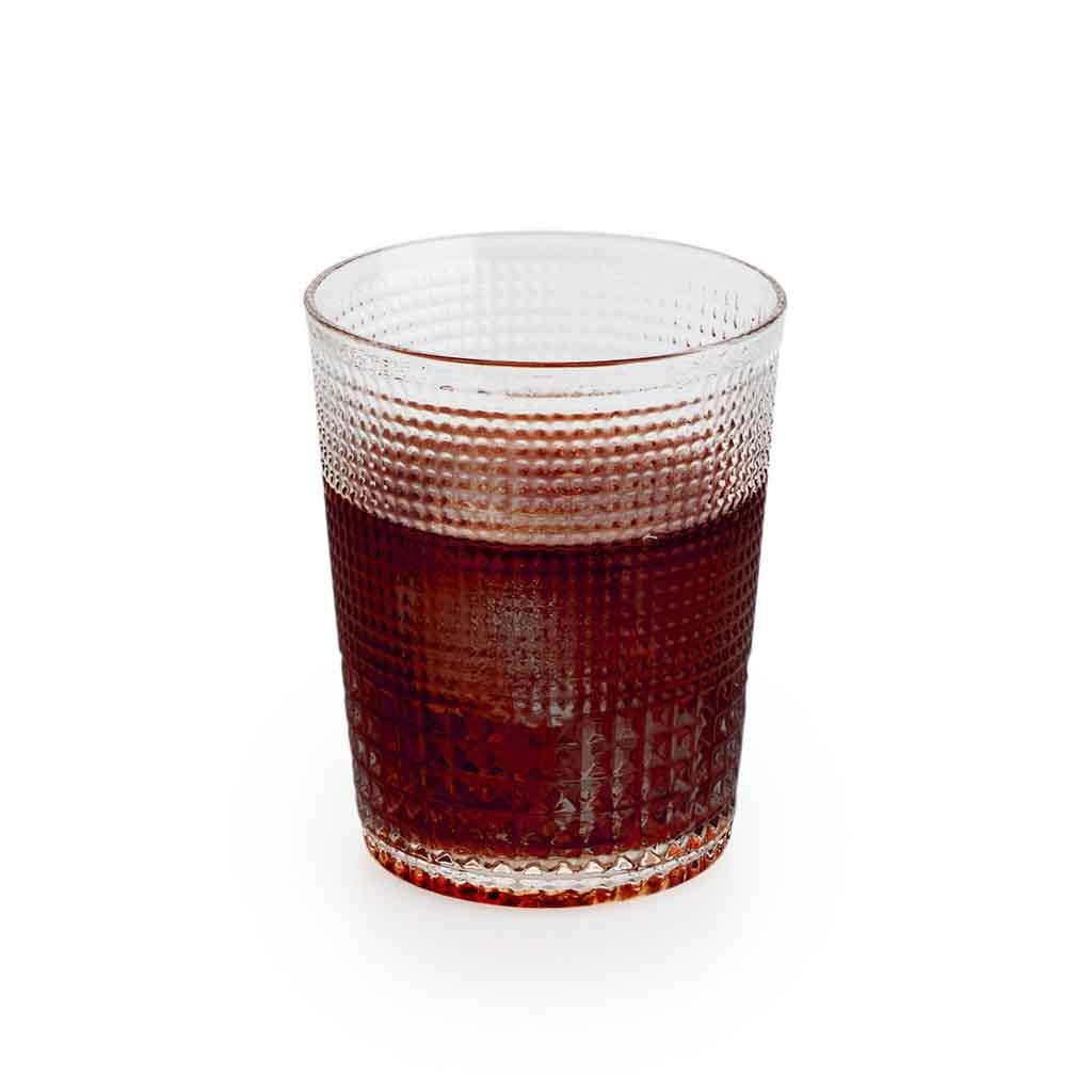 Set 4 vasos bajos Niza vidrio, color trasnparente