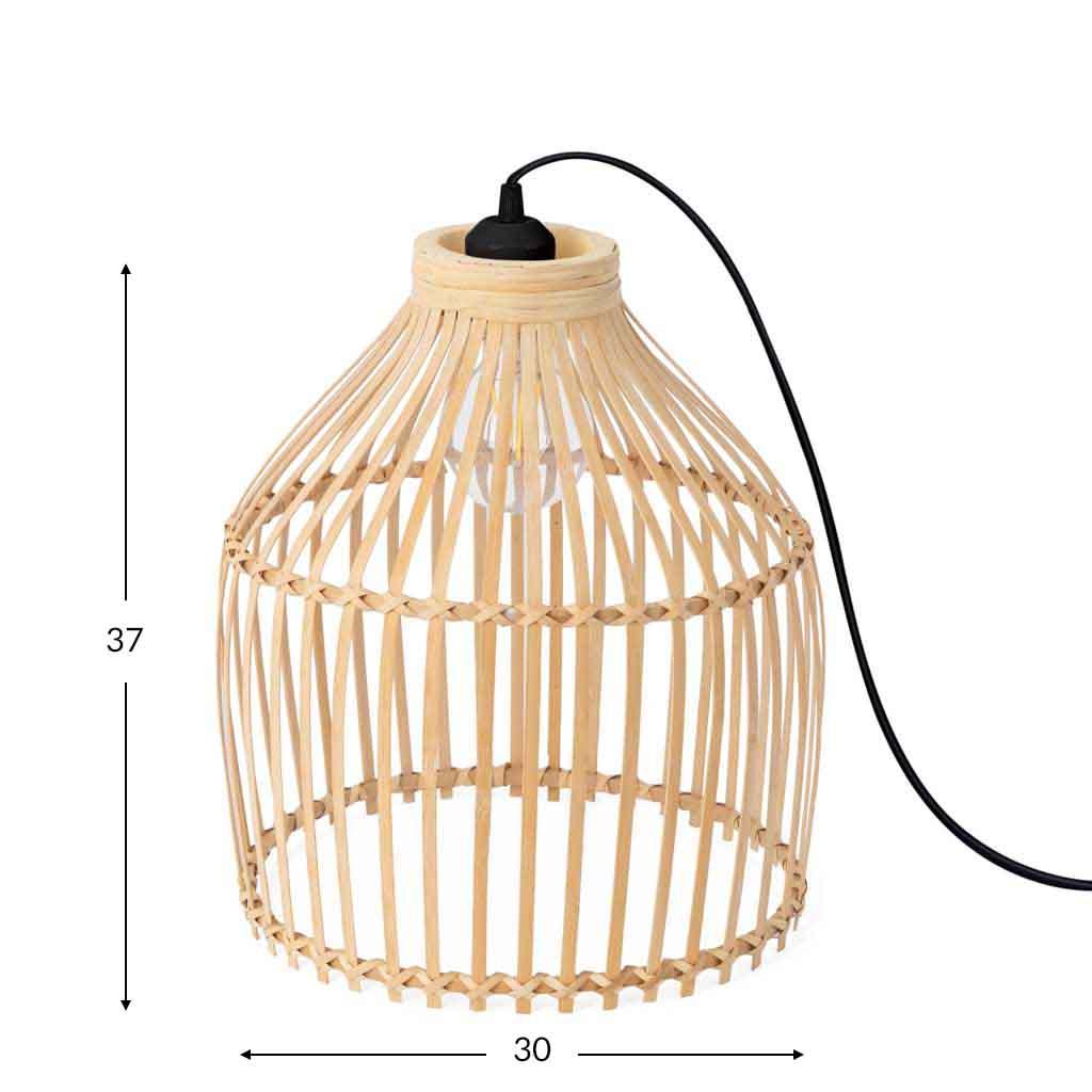 Floor lamp, Vietnam rattan, color natural