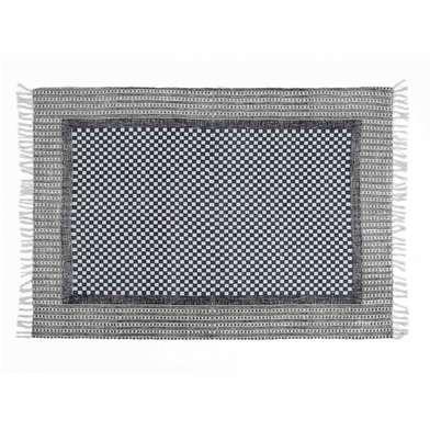 Rug Fez 100% cotton, color grey blue