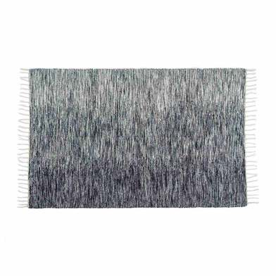 Rug Bombai 100% wool, color black and beige