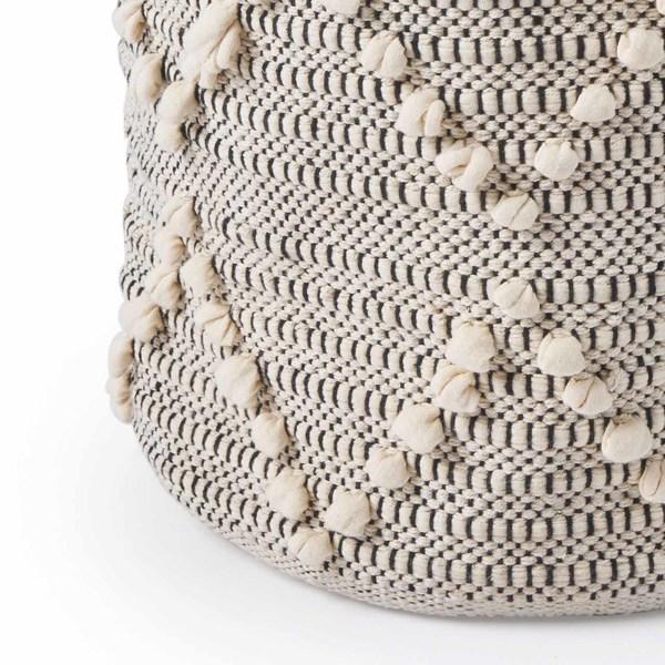 Cesto Tánger 100% algodón, color beige y negro
