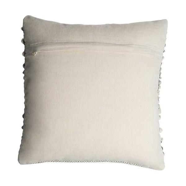 Funda cojín Tánger 100% algodón, color beige y negro