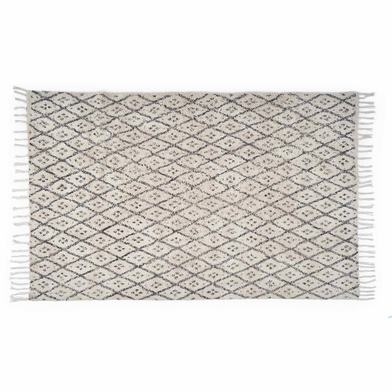 Rug Marrakesh 100% cotton, color Natural and black