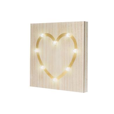 DecoáNavidad Heart madera, color natural