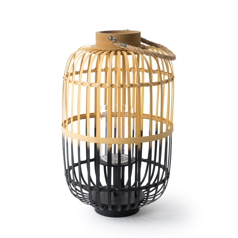 Farolillo Phi Phi bambú y cuerda, color naturaly negro