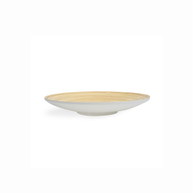 lack Velvet Studio Plate Cannes Shiny Gray colour Circular, it can be used for food or decor Bamboo