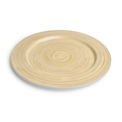lack Velvet Studio Shallow dish Cannes Natural / Bright Gray colour To decorate your dishes and your