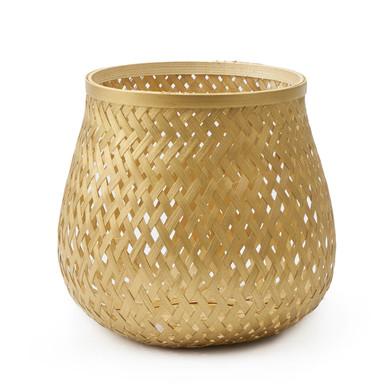 Black Velvet Studio Basket Singapur Golden colour Twisted design, light and fresh Bamboo 20x17 cm