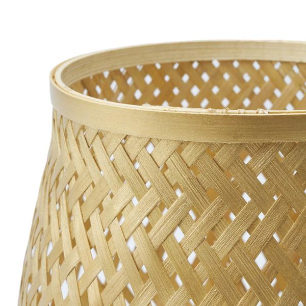 Cesto Singapur bambú, color dorado