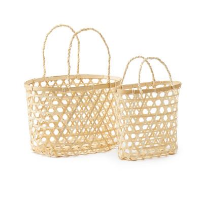 Set 2 cestos Vietnam bambú, color natural