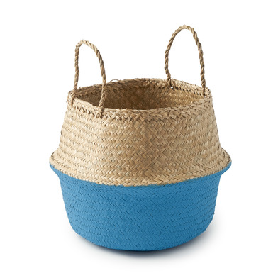 lack Velvet Studio Basket Belly Natural / Gunmetal colour boho chic original design Straw 32 x 35 x