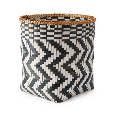 lack Velvet Studio Basket Zig Zag Black White colour original and different design Bamboo 28 x 28 x
