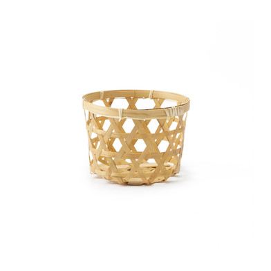 lack Velvet Studio Basket Vietnam Natural colour Circular, light and fresh design Bamboo 28 x 40 x 4