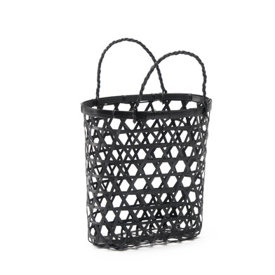 lack Velvet Studio Basket Vietnam Black colour Twisted design, light and fresh, with handles bassine