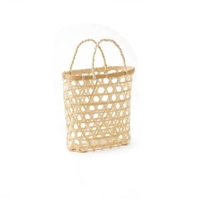 lack Velvet Studio Basket Vietnam Natural colour Twisted design, light and fresh, with handles bassi