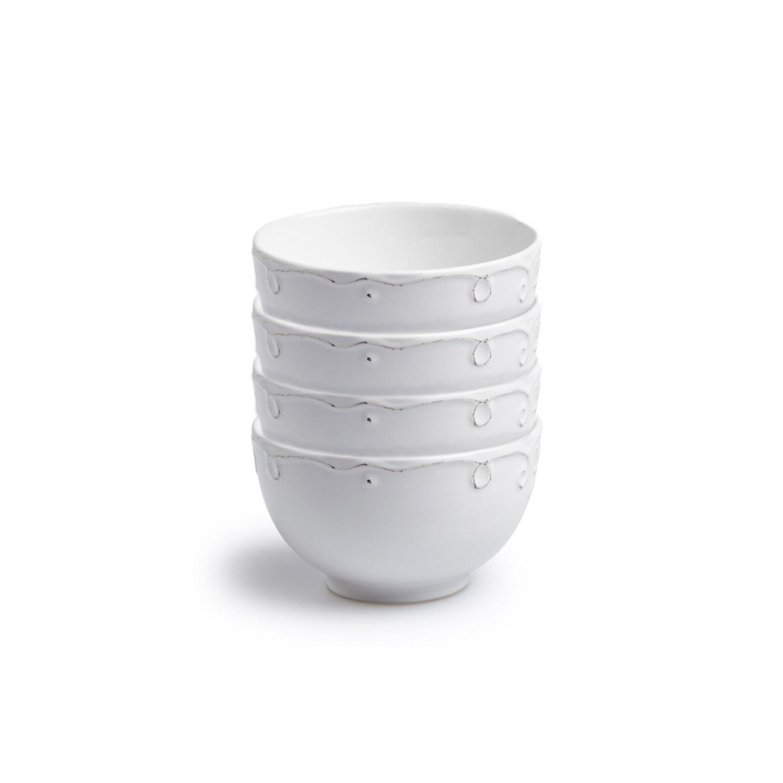 Vajilla,set 16 piezas,Provenza,grabado,blanco, altura 20x20x20 cm