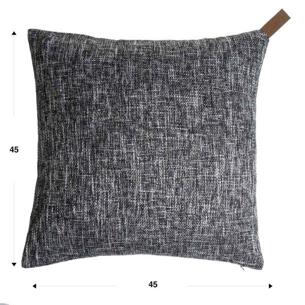 Funda cojín Elegance 25% algodón y 75% poliéster, color gris