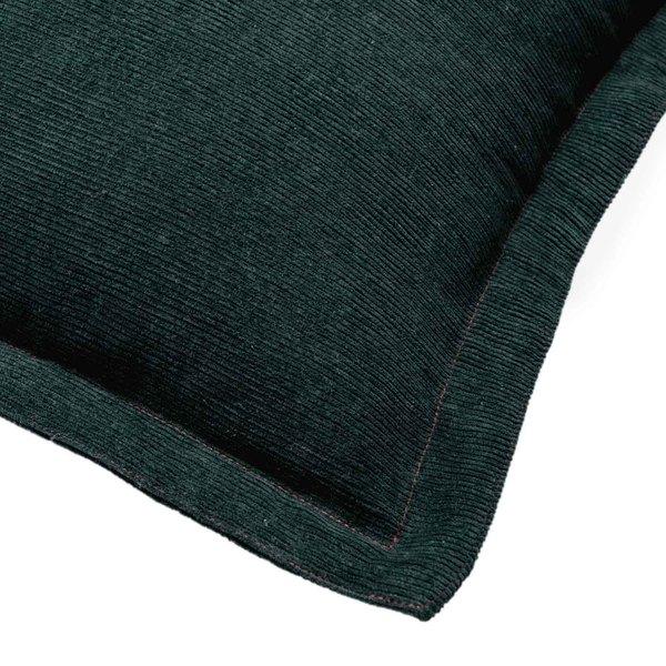 Funda cojín Pana 100% poliéster, color verde oscuro