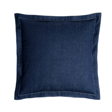 Funda cojín Blue 100% poliéster, color azul oscuro