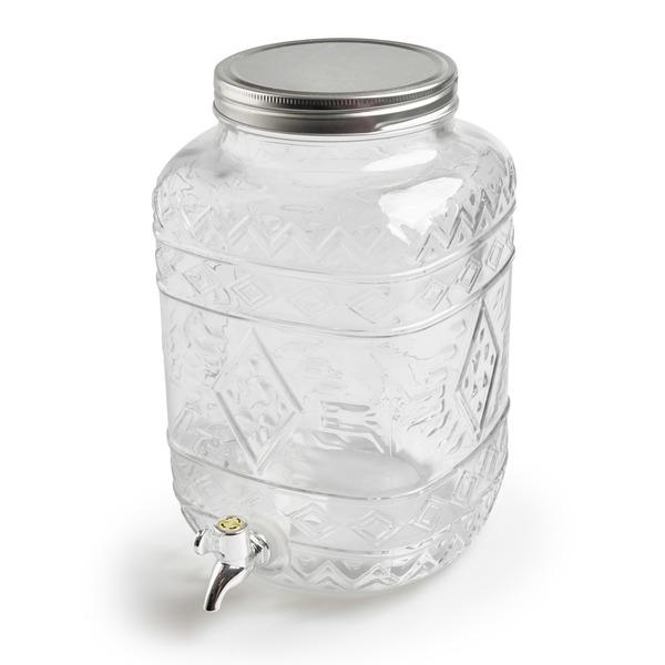 Dispensador zumo Drink vidrio y metal, color transparente
