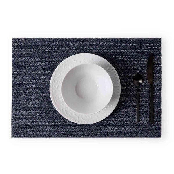 Set 2 individuales Nuit plástico, color gris y azul