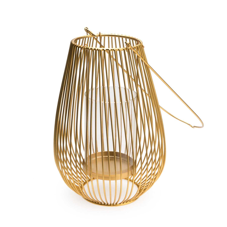 Farolillo Goldy metal, color dorado