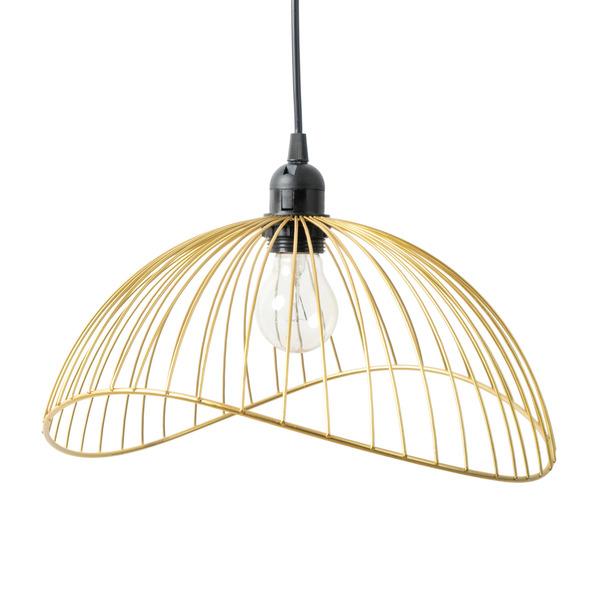 Lámpara colgar Ra metal, color dorado