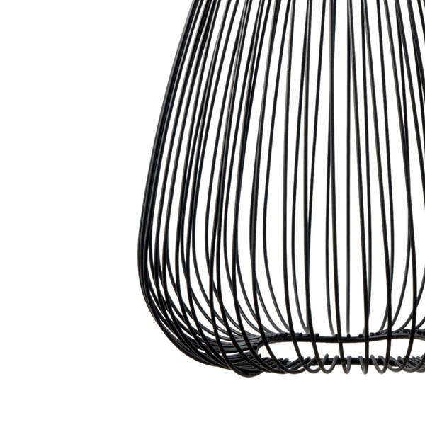 Lámpara colgar Gota metal, color negro