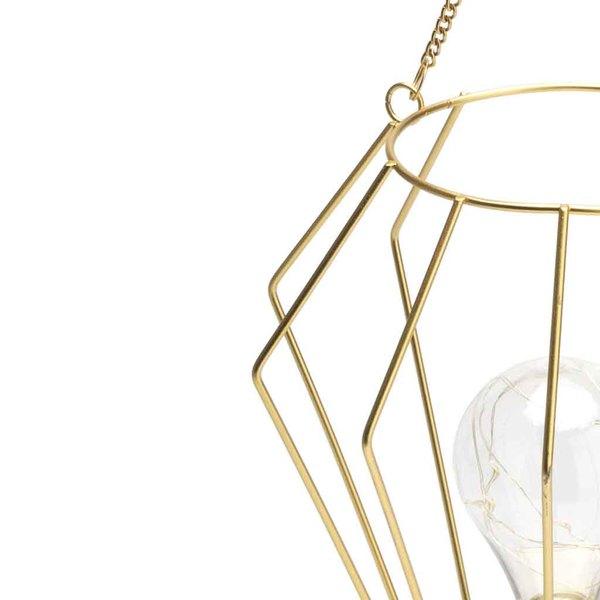 Lámpara Tulip metal, color dorado