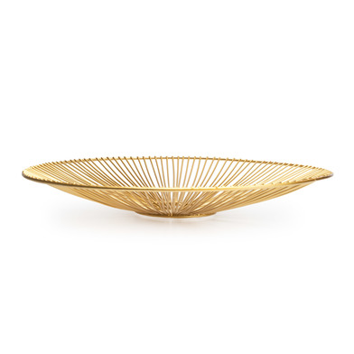 Tray Ra metal, color golden