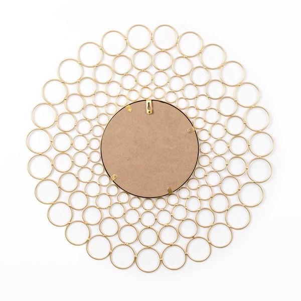 Espejo Bubble, metal, color dorado, Estilo nórdico