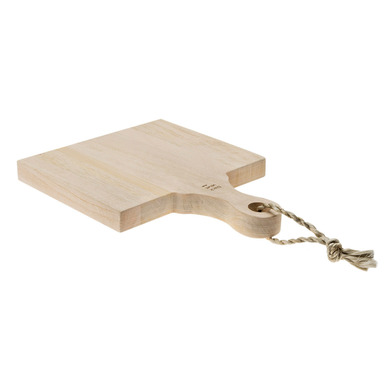 Chopping board Bali mango wood and rope, color natural