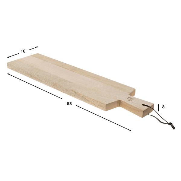 Tabla de cortar Cut madera mango y polipiel, color natural