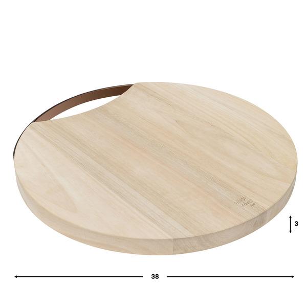 Tabla de cortar Copper madera mango y cobre, color natural