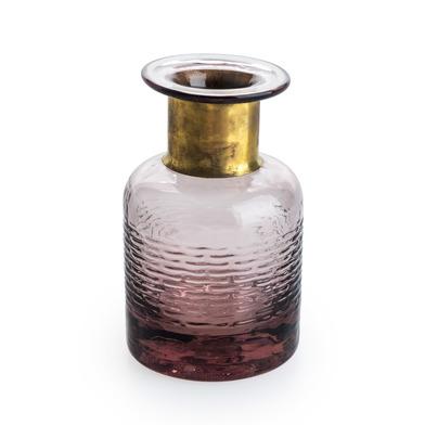 arrón Vidrio Decorativo Color Marrón Cristal – Florero Moderno Vintage para Hogar Oficina Sala Mesa