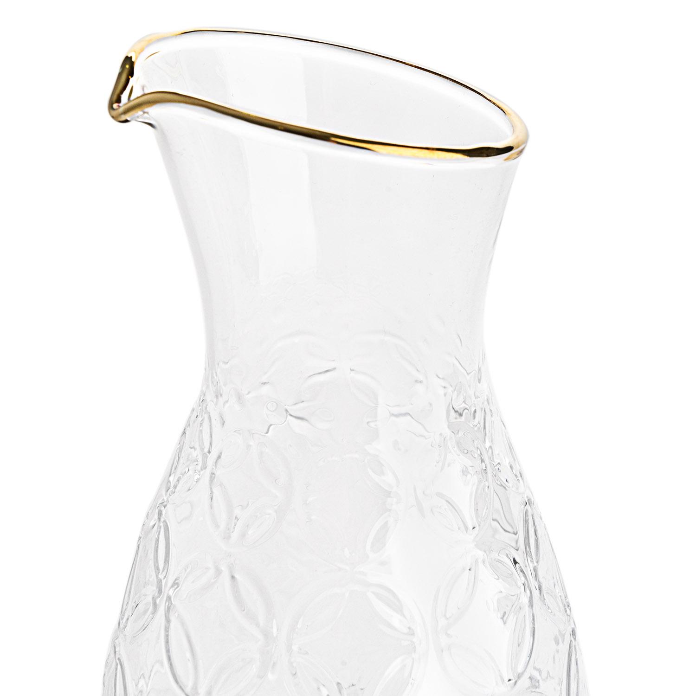 Jarra Old is chic vidrio, color transparente y dorado
