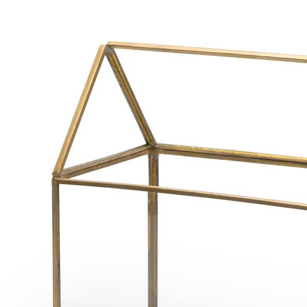 Caja deco Retro vidrio y metal, color transparente y dorado