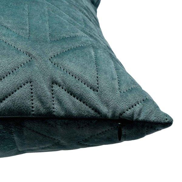 Funda cojín Triangle 100% poliéster, color gris oscuro