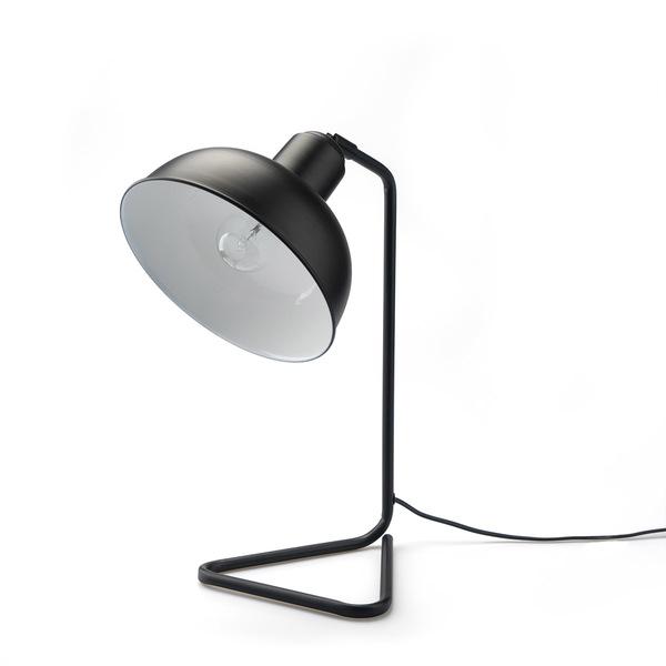 Lámpara de mesa Pixar metal, color negro, aire retro, 41x26x19 cm
