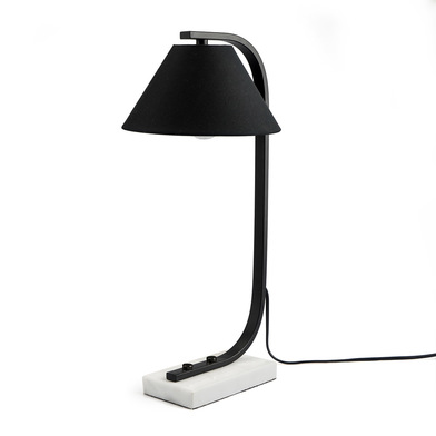 Table lamp Mr Jones marble, color black White, retro air, 50x23x25 cm