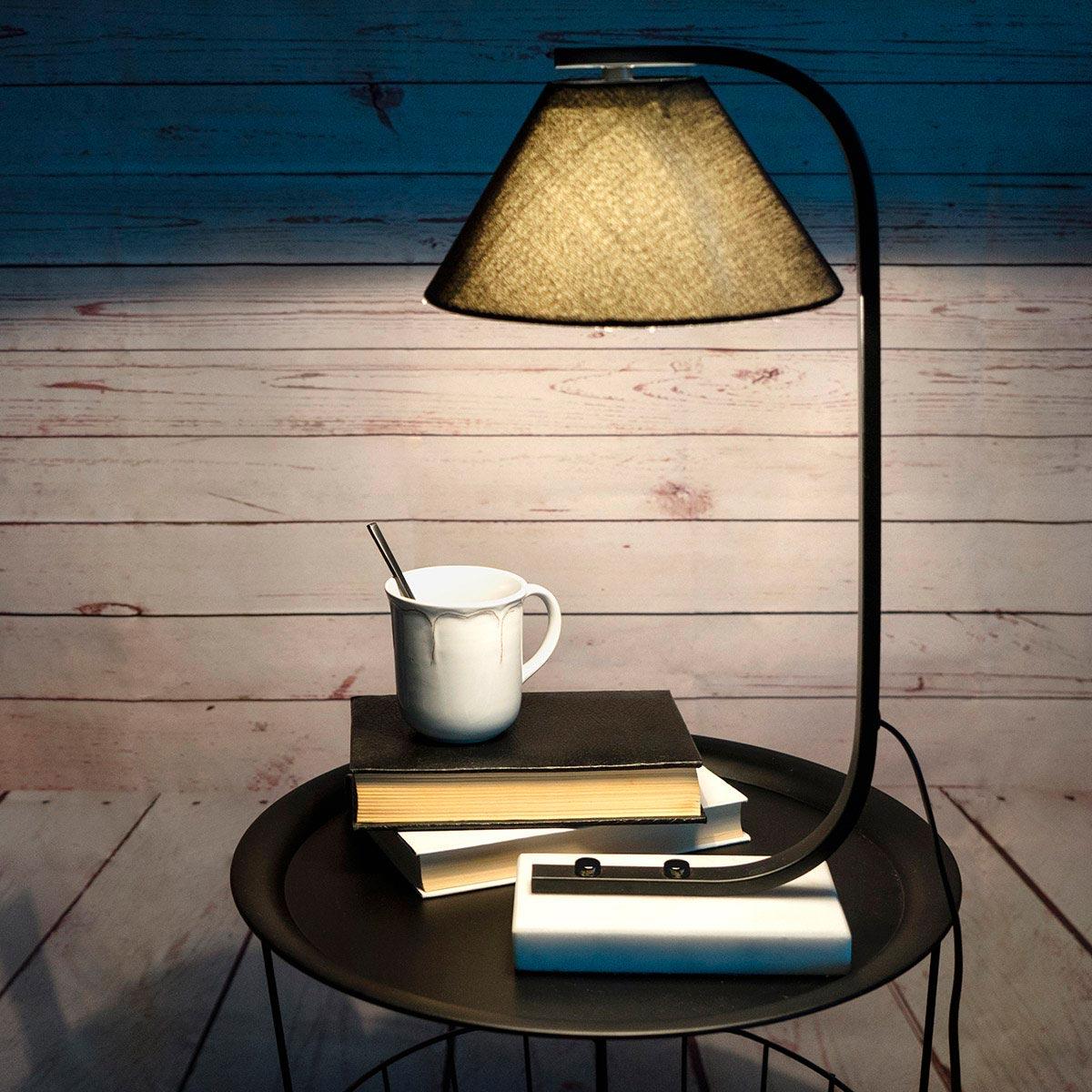 Table lamp Mr Jones marble, color black White, retro air, 50x23x25 cm